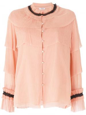 Многослойная блузка Vilshenko. Цвет: розовый и фиолетовый