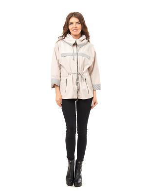 Куртки LaBella Vita. Цвет: бежевый