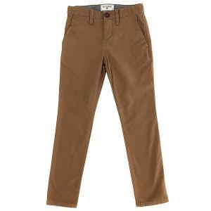 Штаны прямые детские  New Order Chino Camel Billabong. Цвет: коричневый