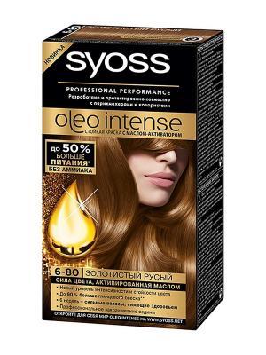 Краска для волос OLEO INTENSE 6-80 Золотистый русый SYOSS. Цвет: молочный