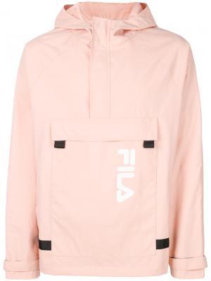 Куртка-ветровка с капюшоном Fila. Цвет: розовый и фиолетовый