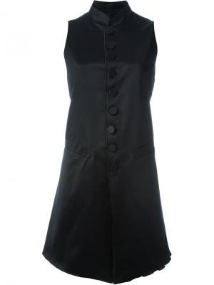 Платье с пуговичной застежкой Jean Paul Gaultier Vintage. Цвет: чёрный