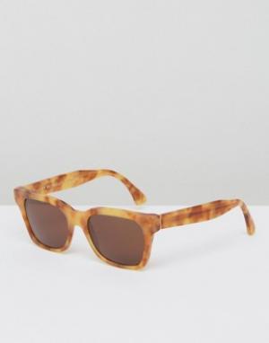 Retrosuperfuture Винтажные солнцезащитные очки America. Цвет: коричневый