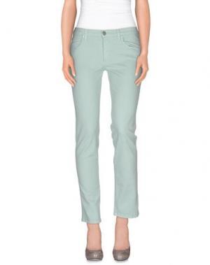 Повседневные брюки BLUE LUXURY. Цвет: светло-зеленый