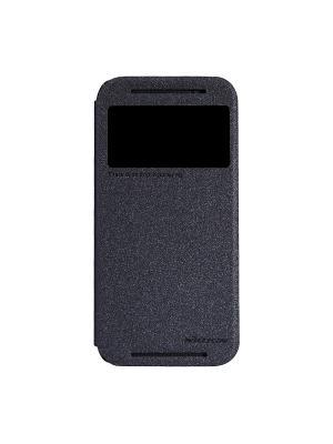 HTC One (M8) Nillkin Sparkle leather case. Цвет: черный