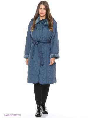Пальто Emi Filini. Цвет: серо-голубой