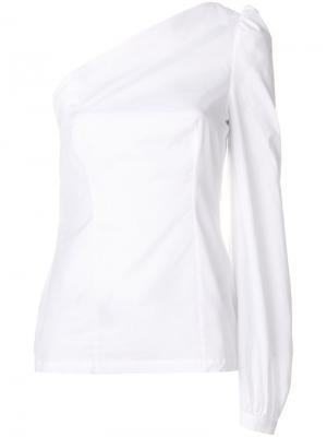 Блузка на одно плечо Racil. Цвет: белый