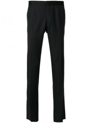 Классические брюки Versace. Цвет: синий