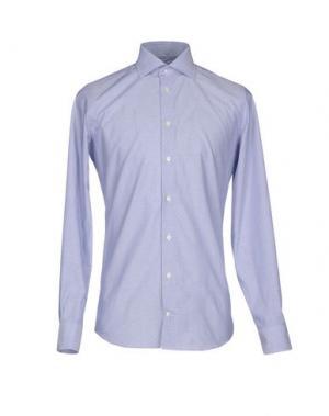 Pубашка RICHARD JAMES. Цвет: небесно-голубой