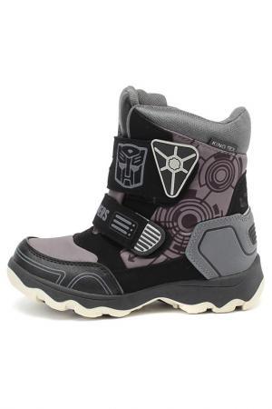Сапожки Transformers. Цвет: черный