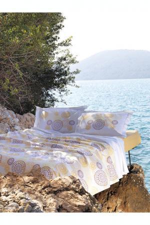 Комплект постельного белья Marie claire. Цвет: white, yellow, beige