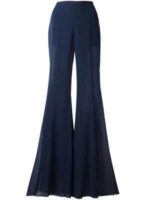 Расклешенные брюки Alberta Ferretti. Цвет: синий