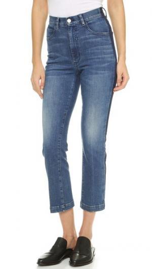 Укороченные джинсы с лампасами Rachel Comey. Цвет: классический выцветший индиго