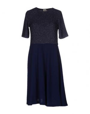 Платье до колена SIYU. Цвет: темно-синий