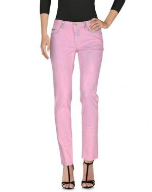 Джинсовые брюки MALÌPARMI. Цвет: розовый