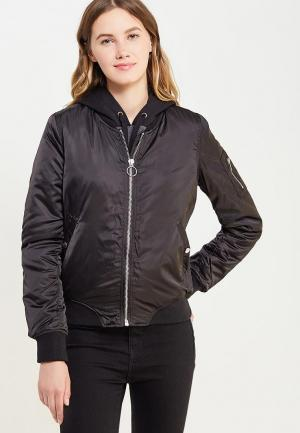 Куртка утепленная Jennyfer. Цвет: черный