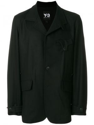 Однобортная куртка Y-3. Цвет: чёрный