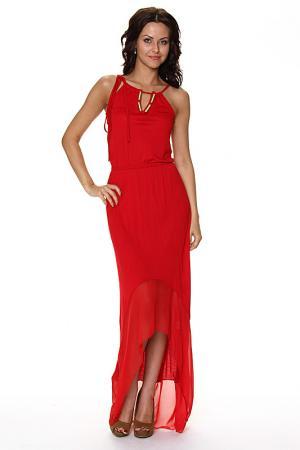 Платье с подкладкой на бретелях Piamente. Цвет: красный