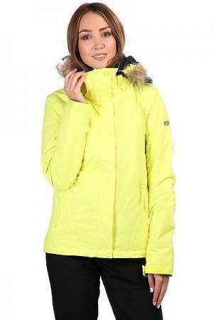 Куртка утепленная женская  Jet Ski Sol Lemon Tonic_gana Emb Roxy. Цвет: желтый