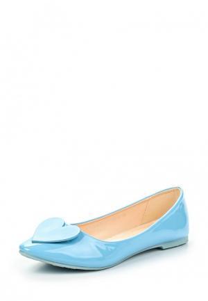 Балетки Amazonga. Цвет: голубой