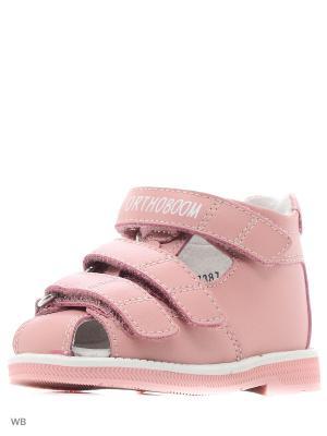 Туфли летние ортопедические ORTHOBOOM. Цвет: розовый