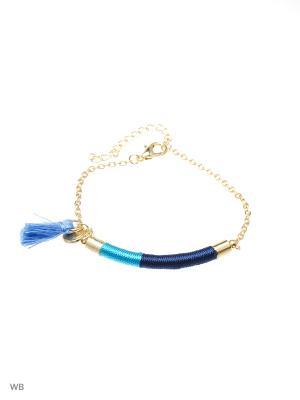 Браслет Modis. Цвет: золотистый, синий, голубой