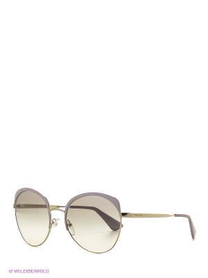 Очки солнцезащитные PRADA. Цвет: золотистый, розовый