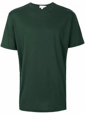 Plain T-shirt Sunspel. Цвет: зелёный