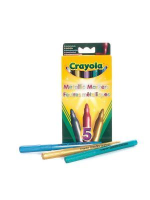 5 маркеров - металлик Crayola. Цвет: желтый
