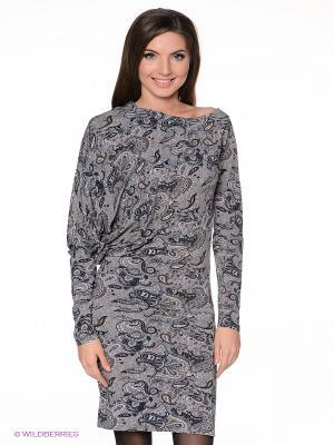 Платье MELANY. Цвет: серый, синий