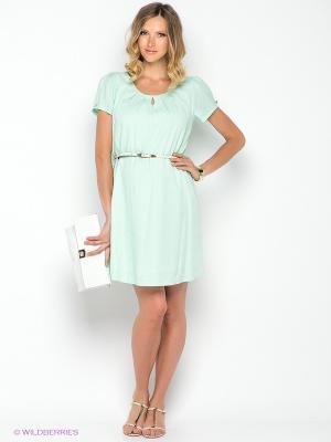 Платье Gemko. Цвет: светло-зеленый