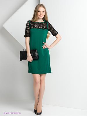 Платье ZARINA. Цвет: темно-зеленый, черный