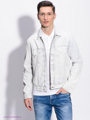 Куртка Calvin Klein. Цвет: белый, светло-голубой