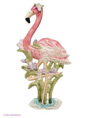 Панно настенное Фламинго Blue Sky. Цвет: розовый, зеленый