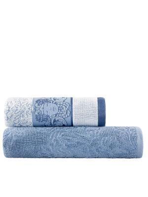Комплект полотенец Изида TOGAS. Цвет: светло-голубой