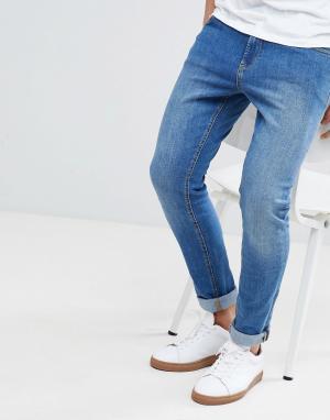 LDN DNM Выбеленные джинсы. Цвет: синий