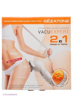 Вакуумный массажер для тела и бюста Gezatone VACU Beauty. Цвет: бледно-розовый