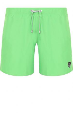 Плавки-шорты с карманами Emporio Armani. Цвет: зеленый