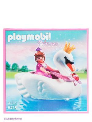 Принцесса на лодке-лебеди Playmobil. Цвет: белый, синий, коричневый