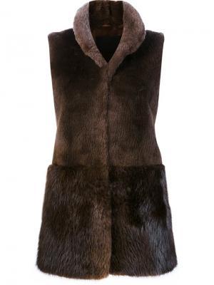 High neck vest Co. Цвет: коричневый
