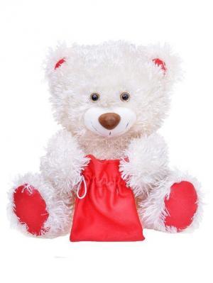 Мягкая игрушка Медведь праздничный, Malvina. Цвет: молочный