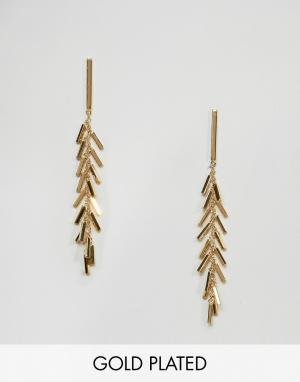 Gorjana Позолоченные серьги с бахромой. Цвет: золотой