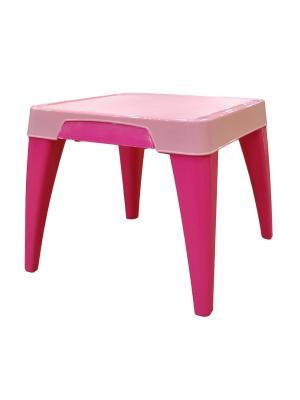 Детский стол Я расту Little Angel. Цвет: розовый