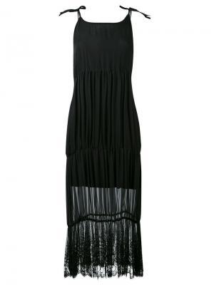 Платье с кружевной отделкой Federica Tosi. Цвет: чёрный
