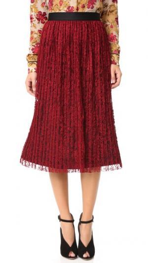 Плиссированная юбка Mikaela alice + olivia. Цвет: бордовый