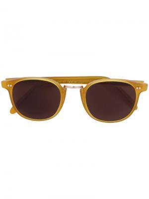Солнцезащитные очки 1007 Cutler & Gross. Цвет: жёлтый и оранжевый
