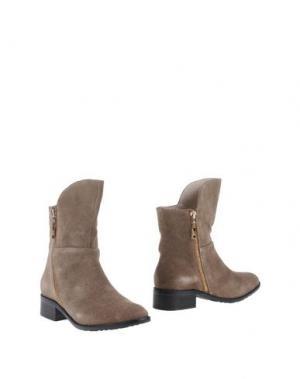 Полусапоги и высокие ботинки ATELIER MERCADAL. Цвет: серый