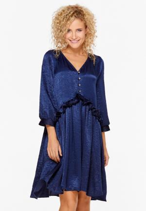 Платье SoloU. Цвет: синий