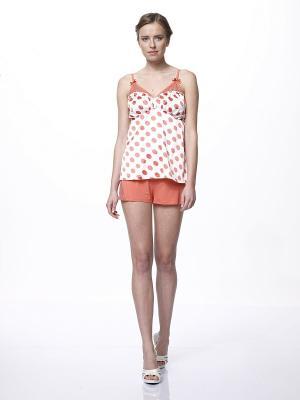 Пижама RELAX MODE. Цвет: белый, оранжевый