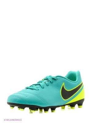 Бутсы JR TIEMPO RIO III FG Nike. Цвет: бирюзовый